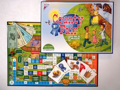"""Surprise – it's a teaching tool! Award-winning County Fair from J. Bell-Jones was created in 2008 for the """"county fair"""" market, but teachers discovered that it's an effective tool to develop reading and math skills. The setting is a fair, and players roll the die, accumulate ribbons and points, and spend money on treats, event tickets and tractors as they race around the board. thecountyfairgame.com"""