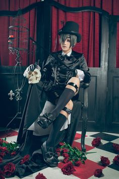 black butler cosplay, ciel cosplay, cosplay