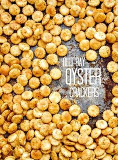 Old Bay Seasoned Oyster Crackers - keep this easy recipe on hand for snacking or to add flavor and texture to your soup!