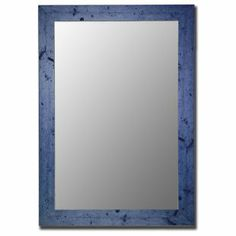 Brighten up your living space with the Hitchcock Butterfield Dorian Vintage Barnwood Wall Mirror . This mirror is hand-crafted from solid wood, and. Blue Bathroom Mirrors, Blue Wall Mirrors, Bathrooms, Traditional Wall Mirrors, Blue Bedding, Beveled Mirror, Floor Mirror, Blue Walls, Frames On Wall