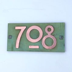 Craftsman House Numbers, House On A Hill, Exterior Paint, Recycled Materials, Plywood, Recycling, Arts And Crafts, Copper, Crafty