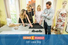 Who wouldn't want to wear this DIY? @orlyshani makes a DIY Lace Slip that you can create and make it truly one-of-a-kind! Don't miss Home & Family weekdays 10/9c on Hallmark Channel!