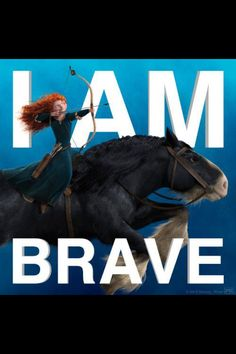 Disney: Brave- is this encouraging or what Dreamworks Movies, Pixar Movies, Movie Characters, Disney Rapunzel, Disney Pixar, Disney Rides, Disney Princesses, Disney Horses, Brave 2012