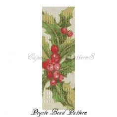 CHRISTMAS MISTLETOE Peyote Bead by CajunsDesignPatternS on Etsy