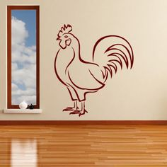 Chicken Outline Farm Bird Birds and Feathers Wall Stickers Home Decor Art Decals available in 5 Sizes and 25 colors X-Large Basalt Grey *** Visit the image link more details. (This is an affiliate link and I receive a commission for the sales)