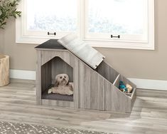Dog House With Porch, Wood Dog House, Build A Dog House, Modern Dog Houses, Dog Spaces, Dog Ramp, Puppy House, Dog Furniture, Pet Home
