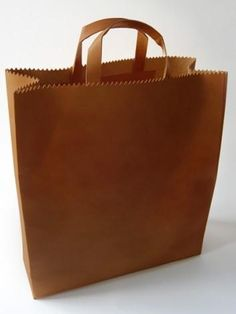"leather ""paper"" bag"
