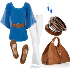 Blue & White, created by mels777 on Polyvore