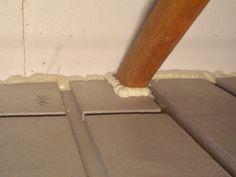 alpor Deckendämmung GD Anschlüsse zu Wänden dicht einschäumen Gd