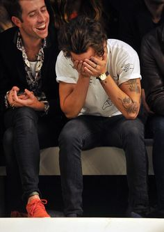 Harry and Nick and the Topshop fashion show
