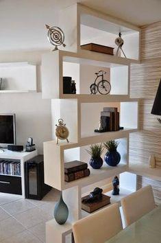 18 Estantes de livros e decoração criativas para deixar a casa moderna