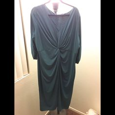 Twist front Dress Zip back, twist front dress with scrunched sleeves Dresses