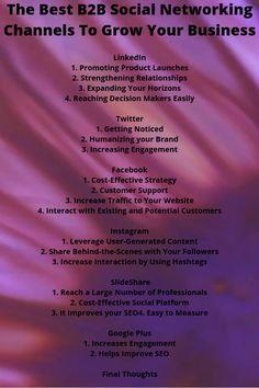The Best Social Networking Channels To Grow Your Business Social Network Template, Social Network Film, Web Design, Design Social, Graphic Design, Facebook Marketing, Digital Marketing, Mobile Marketing, Inbound Marketing