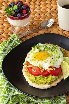 Avocado Breakfast Flatbreads make getting up in the morning easy! A delicious combination of traditional eggs and lots of south-of-the-border flavor.