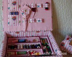 50 ideas sewing kit box antique dolls for 2019 Cardboard Storage, Diy Cardboard, Sewing Kit, Sewing Notions, Alex Craft, Sewing Closet, Sewing Crafts, Sewing Projects, Diy Crafts Hacks