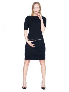Sukienka z dresówki z poziomym zamkiem i kieszeniami SL2163B www.fajne-sukienki.pl Dresses For Work, Fashion, Moda, Fashion Styles, Fashion Illustrations