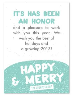 share a nice message - Business Holiday Card Messages