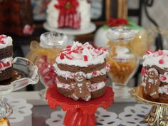 Miniature Chocolate Gingerbread Peppermint Cake by JansPetitPantry