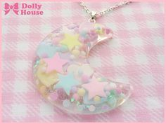 Pastel Miracle Moon Necklace by Dolly House by SweetDollyHouse