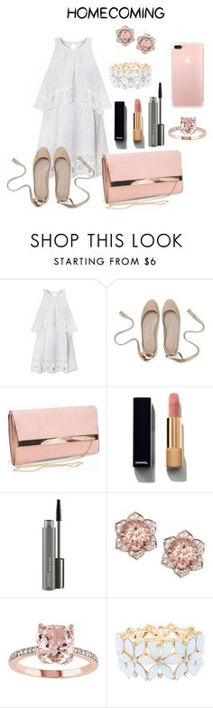 """""""Hoco"""" by rwaldrep ❤ liked on Polyvore featuring New Look, Chanel, MAC Cosmetics and Charlotte Russe"""
