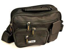 nice New Large Mens Ladies Twin Top Zip Bag Work Travel Cross Body Shoulder Handbag