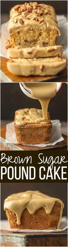 This BROWN SUGAR POUND CAKE with BROWN SUGAR ICING (let's be honest, it's caramel) is utterly delicious and just perfect for Fall. A simple classic. The pecans add a little extra crunch to this sweet and amazing cake. via @beckygallhardin