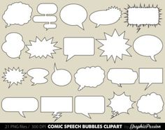 Comic clipart Speech Bubbles Clipart Cartoon Cloud Clip Art Comics Clipart DecorationTalk & Thought BUBBLES Baby Shower Photo Booth, Baby Shower Photos, Handmade Crafts, Diy And Crafts, Cartoon Clouds, Thought Bubbles, Party Banners, Ideas Para Fiestas, Party Props