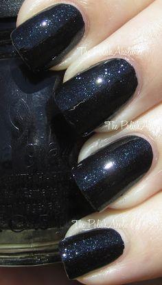 China Glaze Smoke and Ashes: Black subtle glitter nail polish