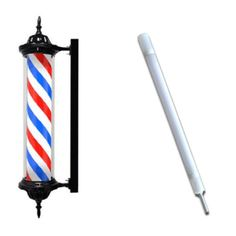 "41"" Slim Barber Pole Black Extra Bulb from Crosslinks"