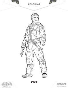 Star Wars The Force Awakens Printable Finn Coloring Page Star