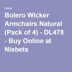 Bolero Wicker Armchairs Natural (Pack of Wicker Armchair, Wicker Chairs, Garden Table And Chairs, Catering Equipment, Armchairs, Packing, Natural, Stuff To Buy, Rattan Chairs