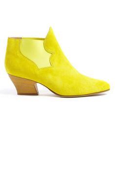 A lemon-hued bootie might just be the best way to usher in spring (Acne)