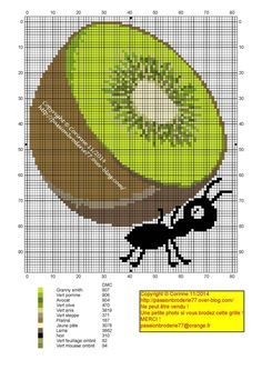 Kiwi and Ant x-stitch