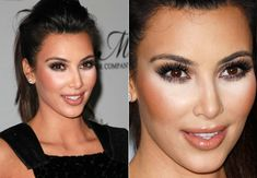 iluminador: Kim Kardeshian Kim Kardashian, Contouring And Highlighting, Pearl Earrings, Pearls, Divas, Beauty, Highlights, Jewelry, Fashion