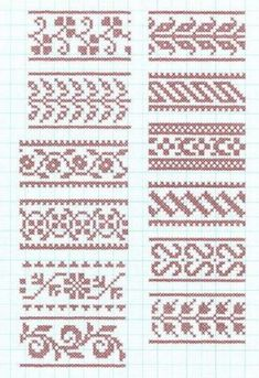 Best 11 Set Of Borders, Embroidery Cross, Vector Royalty Free Cliparts, Vectors, And Stock Illustration. Fair Isle Knitting Patterns, Crochet Stitches Patterns, Loom Patterns, Knitting Stitches, Embroidery Patterns, Cross Stitch Borders, Cross Stitch Samplers, Cross Stitching, Cross Stitch Patterns