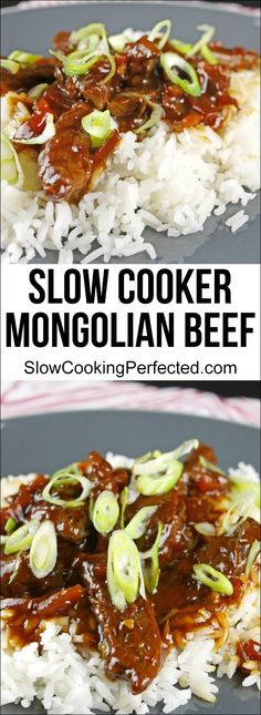 Incredible Slow Cooker Mongolian Beef that's super easy to quickly prepare. Once done you're left with with tender strips of been in a slightly sweet & spicy sauce. Slow Cooker Mongolian Beef Recipe, Mongolian Beef Recipes, Slow Cooked Beef, Crock Pot Slow Cooker, Crockpot Meals, Freezer Meals, Slow Cooking, Cooking Beets, Cooking Ribs