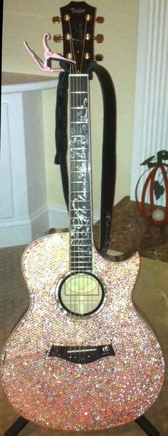 crystal Taylor guitar custom