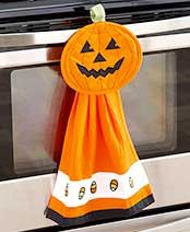 PD 07-16-2016.  2-Pc. Halloween Kitchen Sets - towel and pot holder