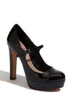 thicker heel.... do i like? not sure. i do love mary janes... Vince Camuto 'Jasper' Mary Jane Pump