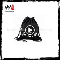 Eco-friendly recycle canvas drawstring backpack bag with great price