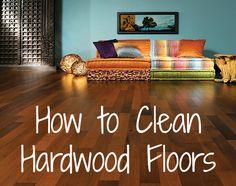 How to Clean Hardwood Floors.I'll be needing this! Hardwood Floor Care, Cherry Hardwood Flooring, Clean Hardwood Floors, Hardwood Stairs, Real Wood Floors, Hardwood Cleaner, Dark Hardwood, Household Cleaning Tips, House Cleaning Tips