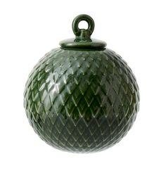 Lyngby Porcelæn - Rhombe kugle mørk grøn