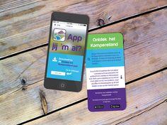 """flyer ter promotie van de """"het Kampereiland app"""""""