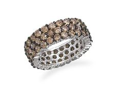 Rhodium Plated Chocolate CZ Ring – Charmed Style #rings #jewelry