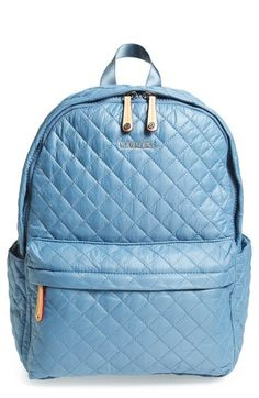 MZ Wallace 'Metro' Quilted Oxford Nylon Backpack available at #Nordstrom
