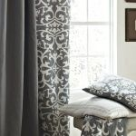 Gray Bedroom, Trendy Bedroom, Bedroom Colors, Master Bedrooms, Grey And White Curtains, Grey Curtains, Shower Curtains, Patterned Curtains, Bedroom Curtains