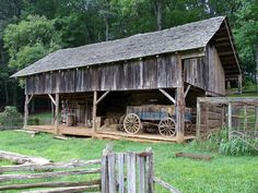 Old Appalachian Farm. Love the old wagon too.