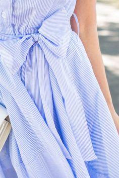 NAPA TRIP: FIT AND FLARE STRIPE DRESS