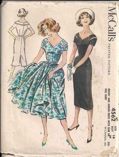 McCall's 4562, ca 1958; Sz 14/Bust 34