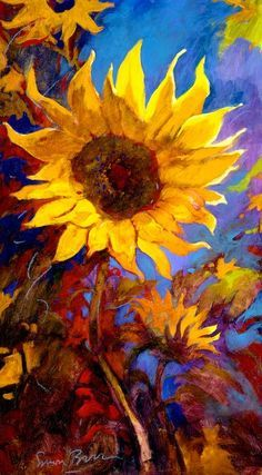 sunflowers simon bull - Buscar con Google